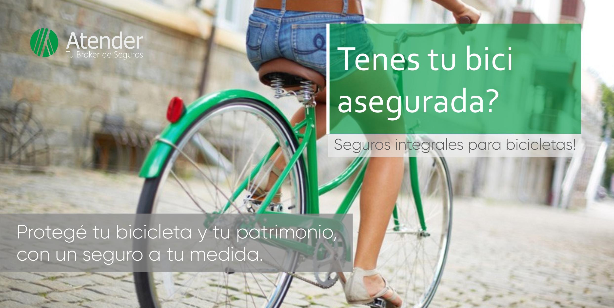 ¡Salí a pedalear tranquilo, asegurá tu bici!